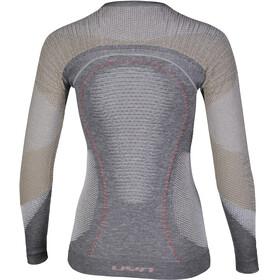 UYN Ambityon Melange UW LS Shirt Women Grey Melange/Nude/Salmon